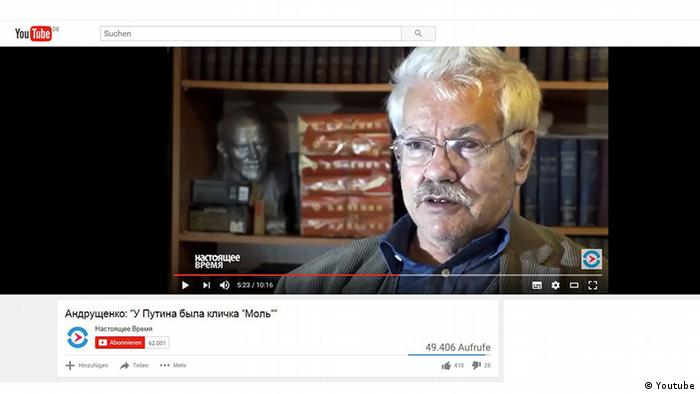 Screenshot Youtube russischer Journalisten Nikolai Andruschtschenko