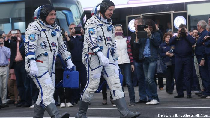 Kasachstan Start einer Soyuz Rakete