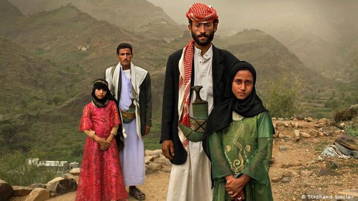 Men and their child brides in Yemen