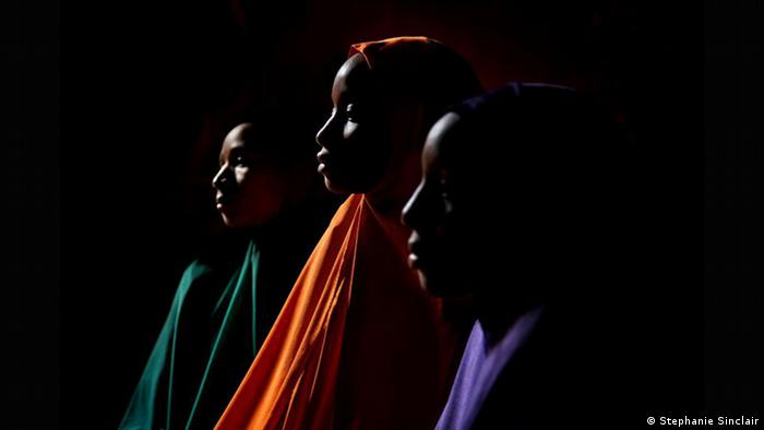 Sisters Yagana, 21, Yakaka 19, and Falimata, 14, were held captive by Boko Haram militants for years until managing to escape