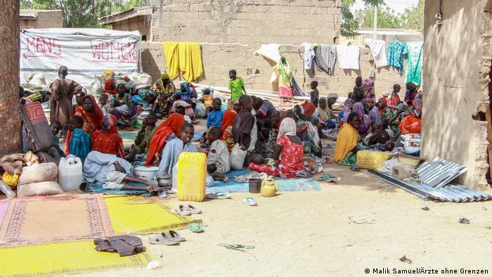Nigerian refugees. (Malik Samuel/Ärzte ohne Grenzen)