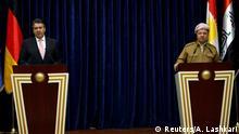 Irak Besuch Außenminister Sigmar Gabriel mit Massoud Barzani