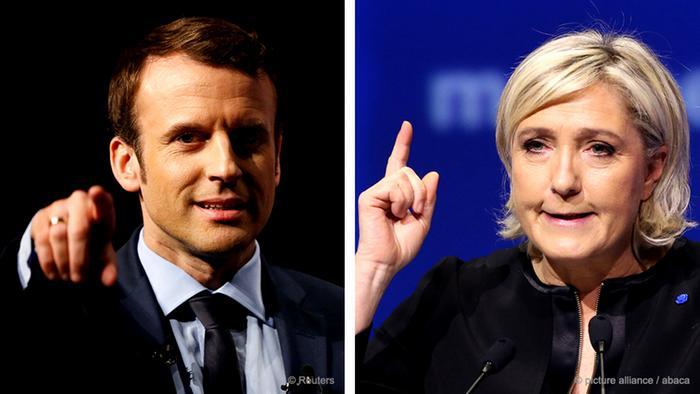 Kombobild Macron Le Pen