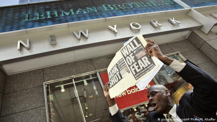 New York City Lehman Brothers Zentrale (picture-alliance/AP Photo/M. Altaffer)