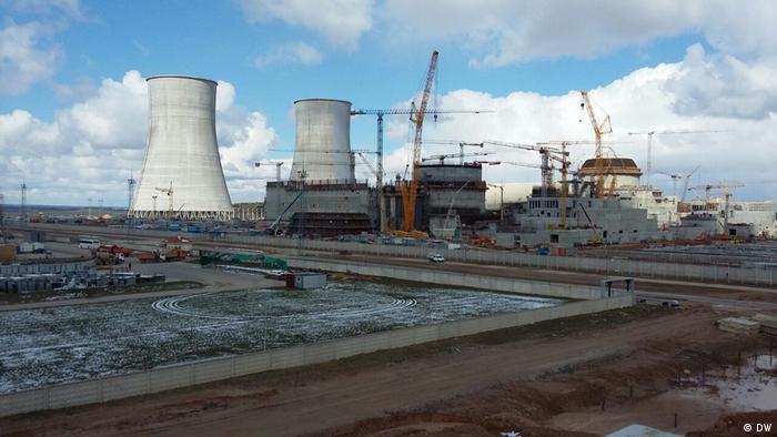 Строящаяся АЭС в Островце (фото из архива)