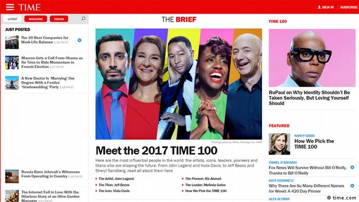 Screenshot Time Magazine (time.com)