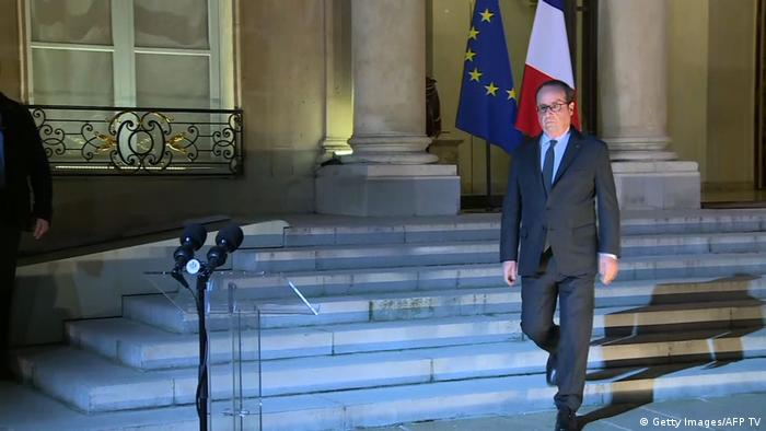 Frankreich PK Francois Hollande (Getty Images/AFP TV)