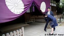 21.04.2017+++ Japan's Internal Affairs and Communications Minister Sanae Takaichi bows as she visits the Yasukuni Shrine in Tokyo, Japan April 21, 2017. REUTERS/Toru Hanai
