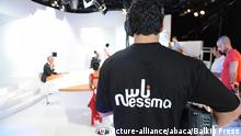 Nessma TV during a taping in its studio