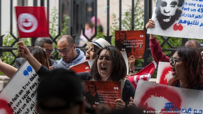 Tunesien Proteste Nessma TV Nabil Karoui