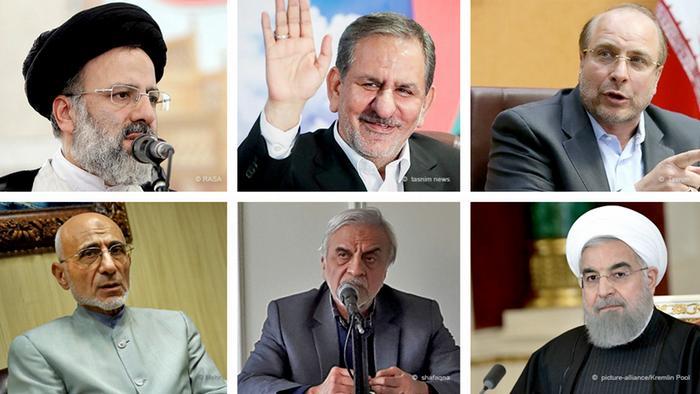 Bildkombo Kandidaten Präsidentschaftswahlen im Iran