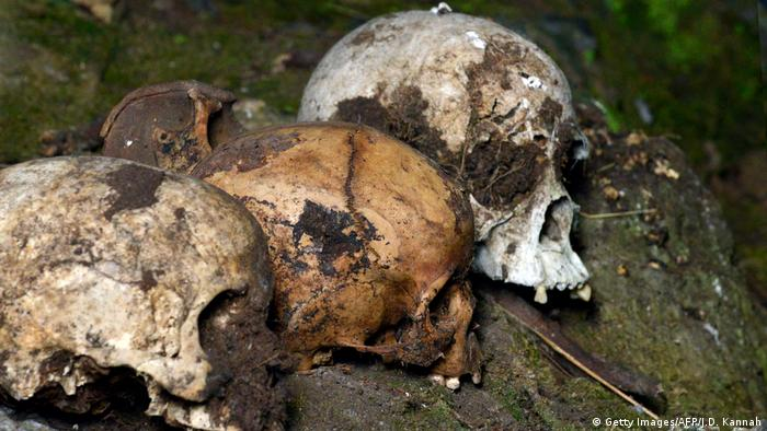 Human skulls unearthed.