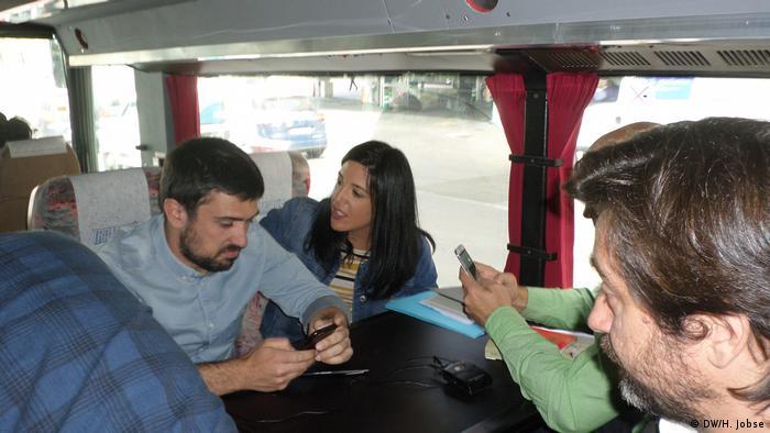 Spanien anti-Korruptions Bus