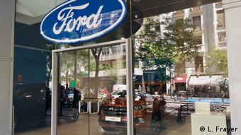 Spanish Ford car dealer in Madrid. Photo credit: L. Frayer