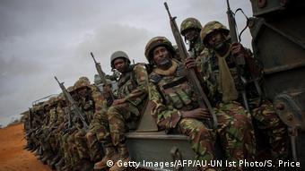 Somalia kenianische Soldaten der Afrikanischen Union