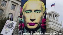 Berlin LGBT Demonstration gegen Übergriffe auf Schwule in Tschetschenien