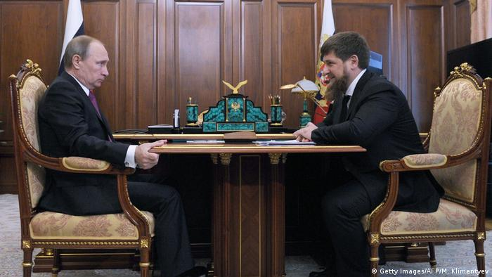 Russian President Putin and Kadyrov in the Kremlin in March 2016