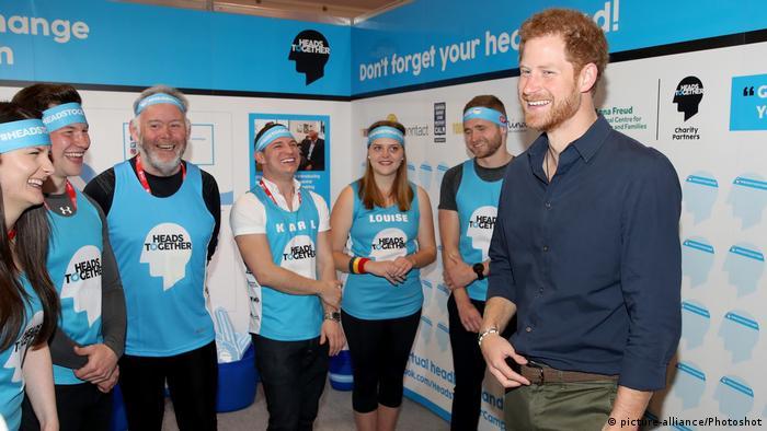 Großbritannien Prince Harry Kampagne Heads together