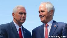 Australien Mike Pence und Malcolm Turnbull in Sydney