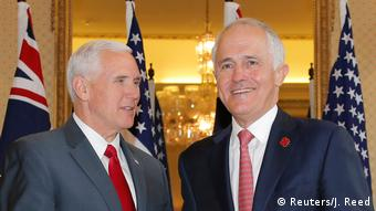 Mike Pence (l.) und Malcolm Turnbull in Sydney