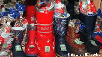 Boots filled with sweets