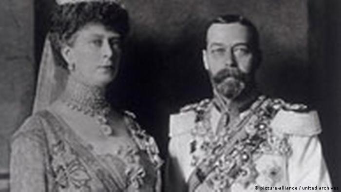 Kalenderblatt Britscher Monarch George V mit Queen Mary