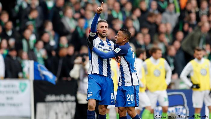 Hertha BSC v VfL Wolfsburg - Bundesliga Ibisevic Torjubel nach 1:0 (Getty Images/Bongarts/B. Streubel)