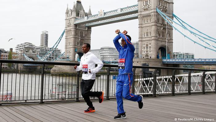 Kenenisa Bekele und Feyisa Lilesa Äthiopien London Marathon