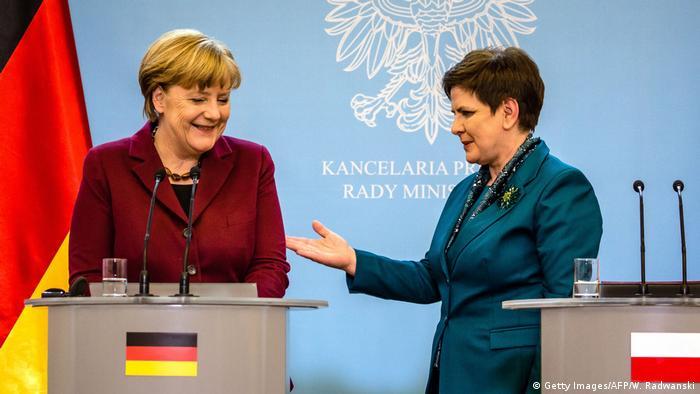 Polen Angela Merkel und Beata Szydlo