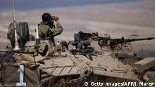 Israel Militär an der Grenze zu Syrien bei Kuneitra