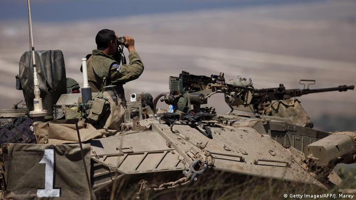 نیروهای اسرائيلی در مرز سوریه