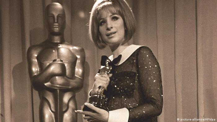 Barbra Streisand with Oscar