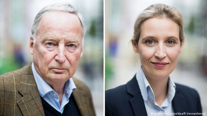 AfD Bundesparteitag Alice Weidel , Alexander Gauland (picture alliance/dpa/R.Vennenbernd)
