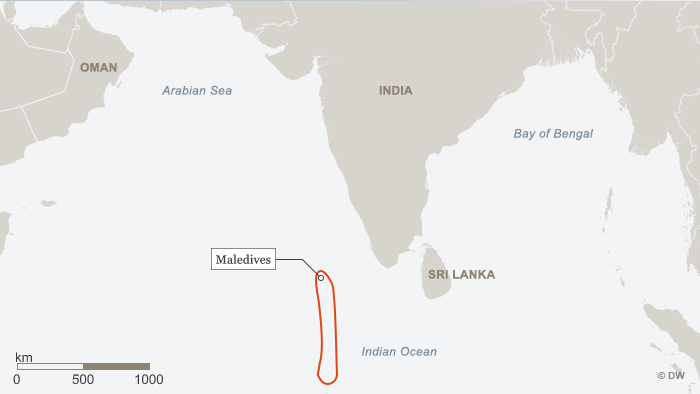 Karte Map Maledives