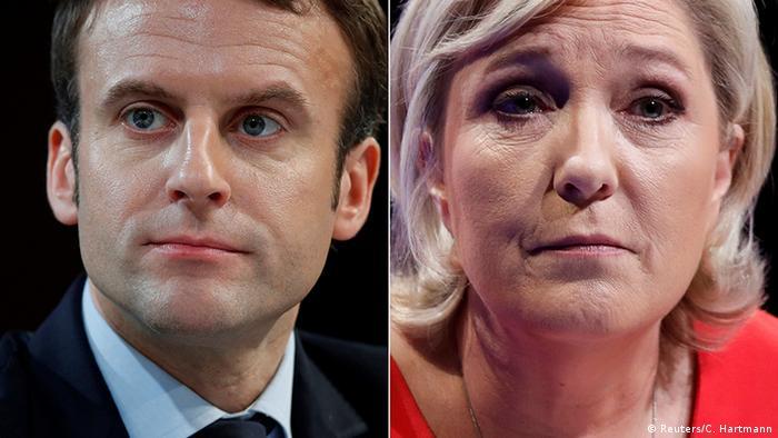 Frankreich Präsidentschaftswahl Macron und Le Pen