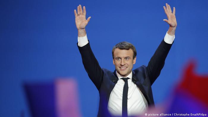 Präsidentschaftswahl in Frankreich Emmanuel Macron (picture alliance / Christophe Ena/AP/dpa)