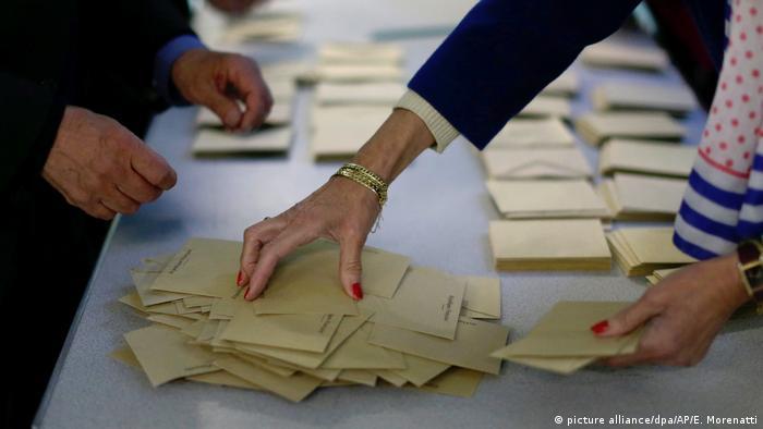 Präsidentschaftswahl in Frankreich Stimmzettel