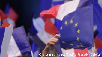 Frankreich Präsidentschaftswahl EU Flagge