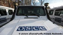 ?eremony of transfer of 20 armored vehicles from the EU to special monitoring mission of the OSCE. (Photo by Serhii Nuzhnenko / Pacific Press) | Verwendung weltweit, Keine Weitergabe an Wiederverkäufer.