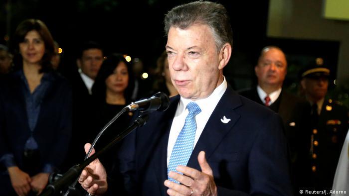 Kolumbien Präsident Juan Manuel Santos zu Besuch in Paraguay (Reuters/J. Adorno)