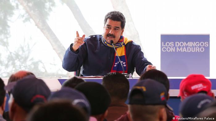 Venezuela TV Sendung mit Nicolás Maduro (Reuters/Miraflores Palace)