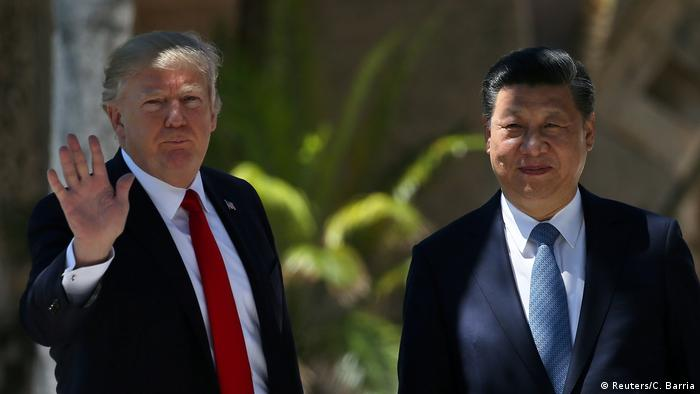 USA Donald Trump und Xi Jinping (Reuters/C. Barria)