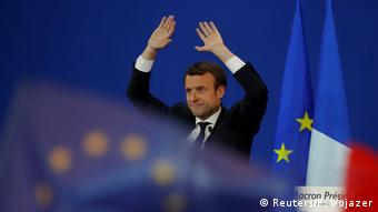 Frankreich Wahl Emmanuel Macron Rede in Paris (Reuters/P. Wojazer)