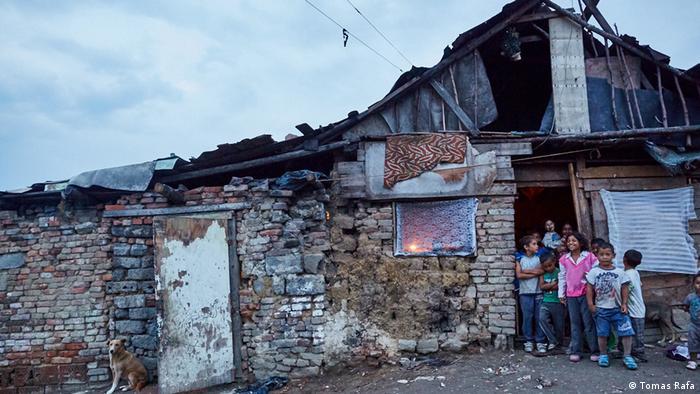 Slowakai Roma Siedlung Sečovce (DW/J. Tomes)