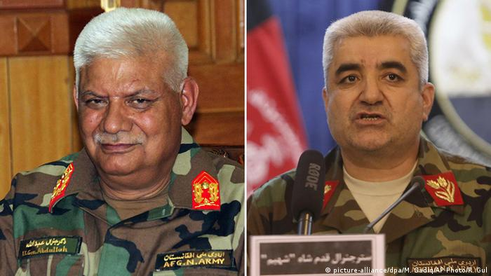 Afghanistan Abdullah Habibi und Qadam Shah Shahim Bildkombo