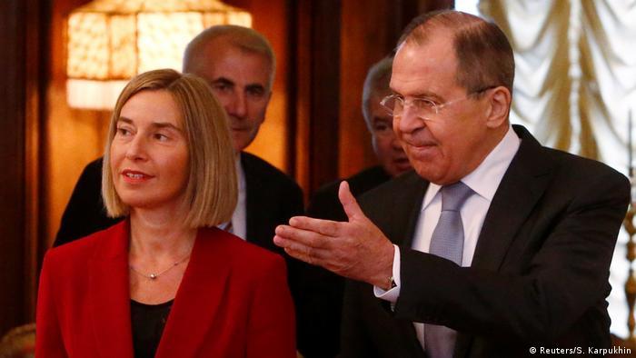 Russland EU Mogherini bei Lawrow (Reuters/S. Karpukhin)