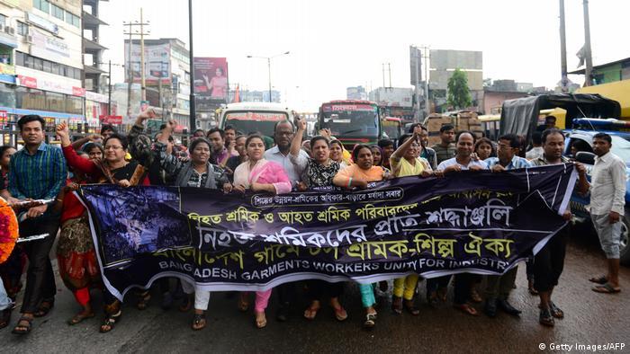 Bangladesch 4. Jahrestag Einsturz Textilfabrik