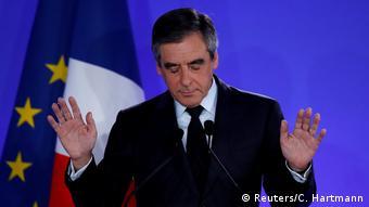 Frankreich Wahl Francois Fillon Rede in Paris nach der Niederlage