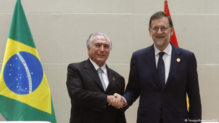 China Brasiliens Präsident Michel Temer trifft spanischen Premierminister Mariano Rajoy (imago/Agencia EFE)