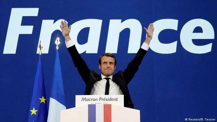 Frankreich Wahl Macron Jubel